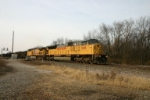 UP 8198 on a mix and match coal train