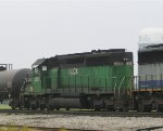 HLCX 6299 heads north on a foggy, overcast morning