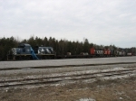 Seven ALCo's and one flat car