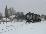 LSRC 1280 & 3504 rolling through the snow back towards their yard