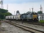 LSRC 1169 & 1164 bringing Z126 across Washington Ave and into Saginaw Yard