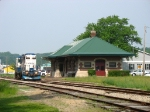 Having to run around the train, 24 rolls past the old depot again