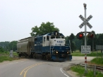24 returning to Kent County with its' idler car in tow