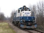 MMRR 24 speeds up again as it nears the south switch of the siding