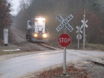 24 nears the crossing at Berridge Rd with its' odd signaling arrangement