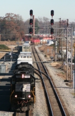 213 crawls past track work in Sailsbury