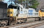 CSX 7509, one of three remaining gray C40-8s trails on 135