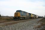 CSX 471 heads up an empty ethanol train