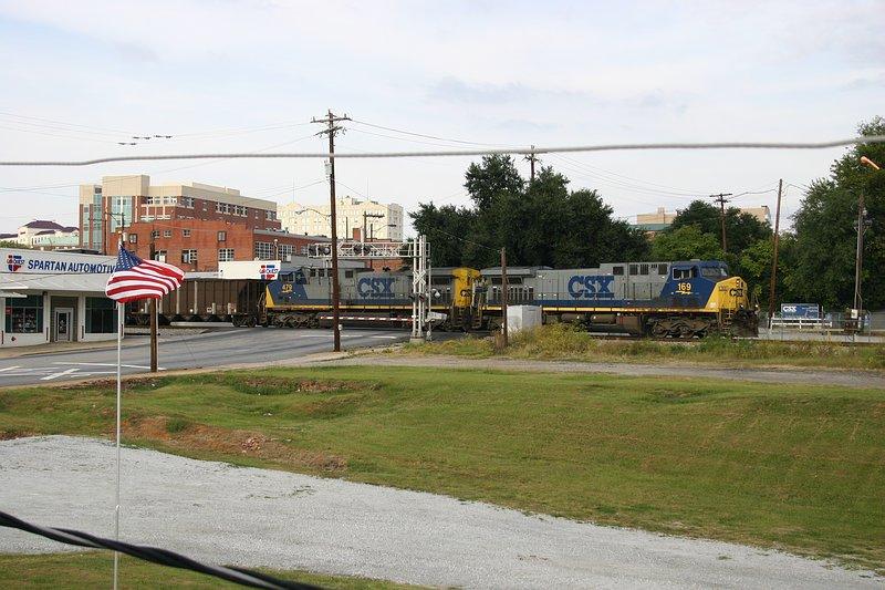 Coal train crosses Main St