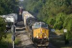 Northbound freight enters Abbeville Sub