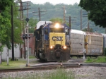 CSX 8447 leading Q242 Northbound
