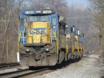 CSX 7582 trailing on X007