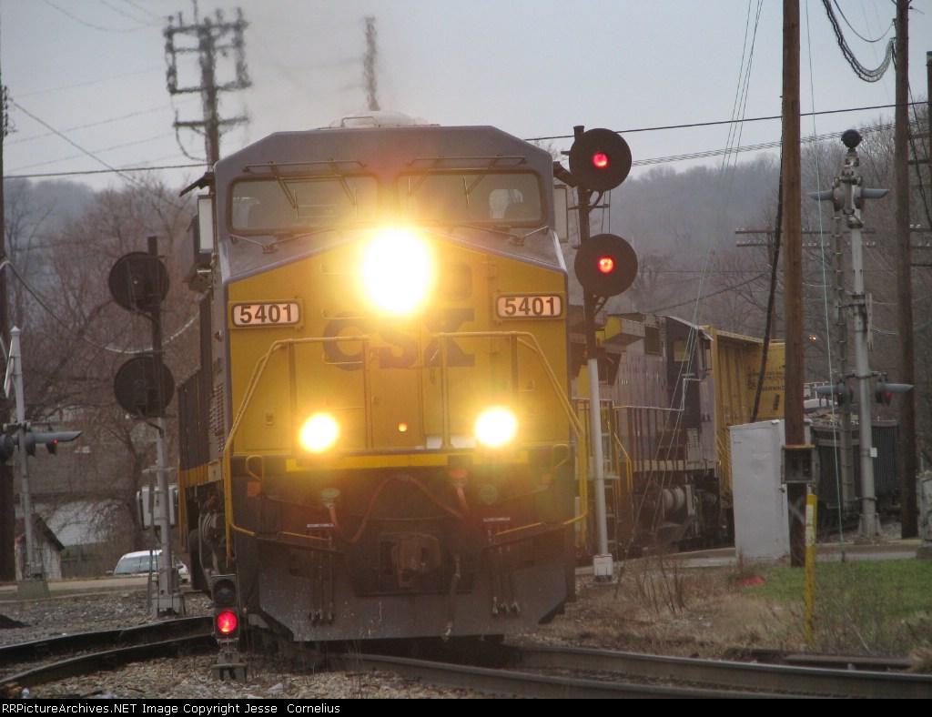 CSX 5401 on Q505 Southbound