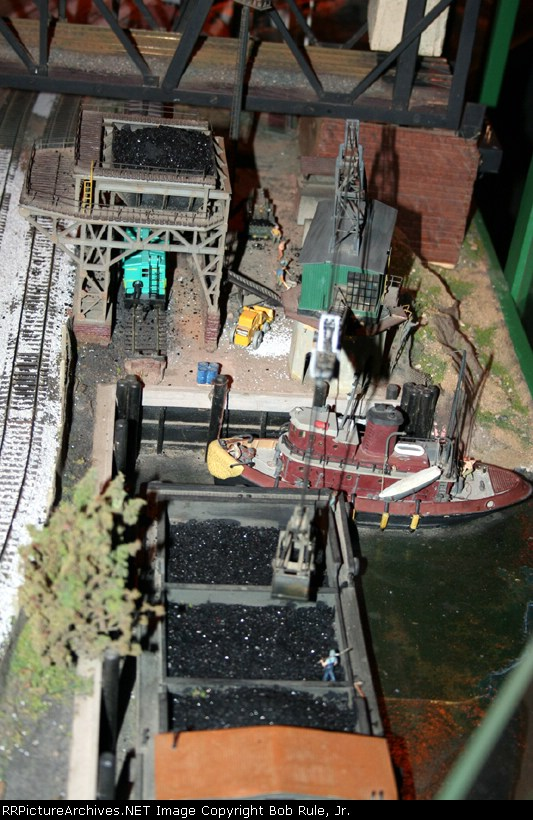 Coal facility at the harbor - Chelten Hills Model Railroad Club