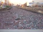Ballast and rail
