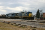 CSX 7551 leads empty sulpher tanks towards Chicago