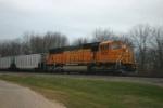 BNSF 8825 is dpu on loads