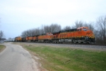 BNSF 5919 waits for the signal to cross CSX