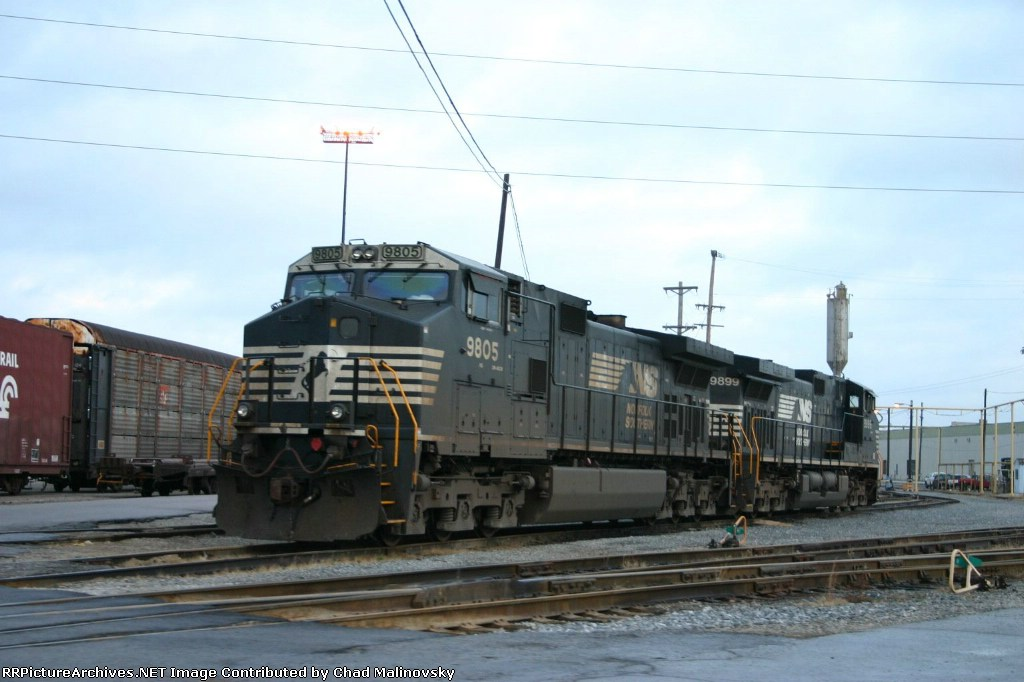 NS 9805 and 9899 rest at the terminal