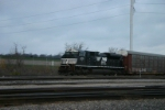 NS 2777 is tied down with an auto train