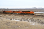 BNSF 6074 leading a string of ES44AC's west in front of Signal Butte
