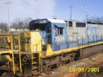 Front shot of CSX 7504 with mismatched number boards