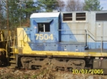 Up close shot of the cab on CSX 7504