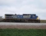 Train Q687 at the River signal
