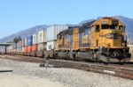 BNSF helpers beginning the shove up to Cajon Pass