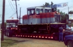 Moving KSRY 503 by truck