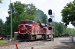 CP 8818 leads a WB mixed freight on the NS Wabash line