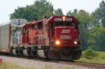 SOO 6055 leads an EB CP train on NS Wabash line at MP 73
