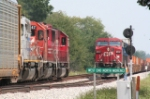 CP 8517 Leads CP WB while SOO 6055 Leads EB on NS Wabash line @ MP73