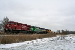 CP 8847 leads a colorful lashup of SD40-2's WB on NS Wabash Line