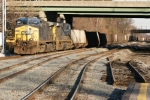 A string of empties about to head west via the Old Main Line