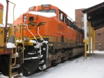 After its derailment in Holland, BNSF 5969 is still sitting at the engine house