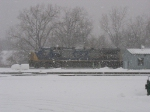 CSX 7851 in the snow