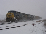 CSX 7828, 591 & 2667 rolling through the siding