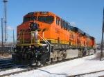 BNSF 5983 & 5967 backing toward their train