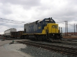 CSX 1547 leads D708 out of the yard