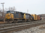 CSX 5218 & 8460 leading Q335 into the yard