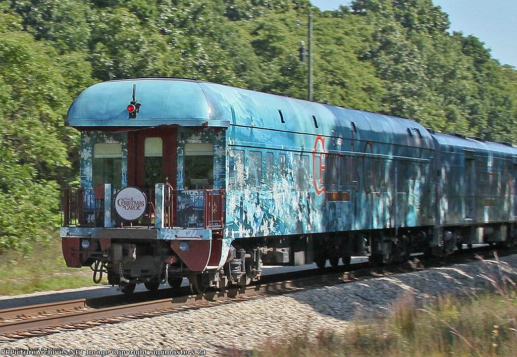 Disney's A Christmas Carol train heads into Lawton Michigan