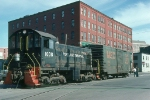 Portland Terminal Railroad (PTM) Alco S1 No. 1008 on Commercial Street