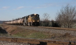 UP 4847 slows down across from the Coor's Plant