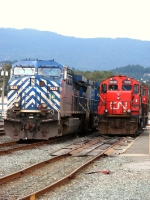CEFX 1028 & CN 7045 at fueling point (former BCRail yard)