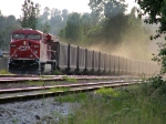 CP 8803 @ head of unit coal train after unloading at Neptune Terminals