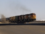 BNSF 5516 shows the way for his manifest