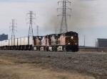 BNSF 5343 leads an eastbound trailer train