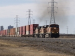 BNSF 7781 point unit in EB intermodal at 2:03pm