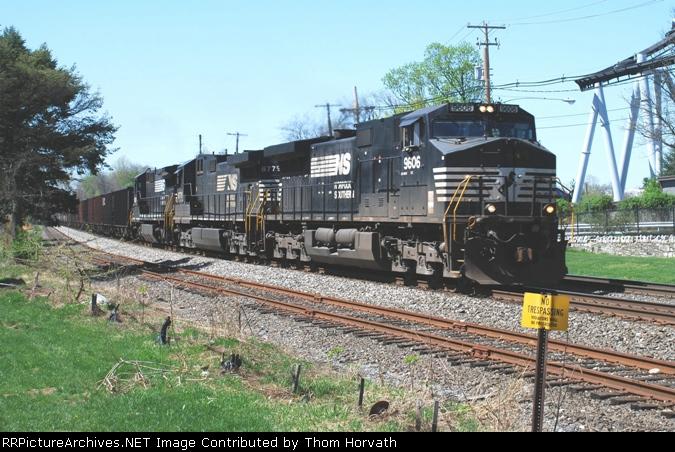 Ns Train Symbol 862unit Coal Train Heads East Past Hershey Park